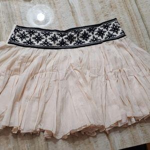 Free People mini skirt embroidered
